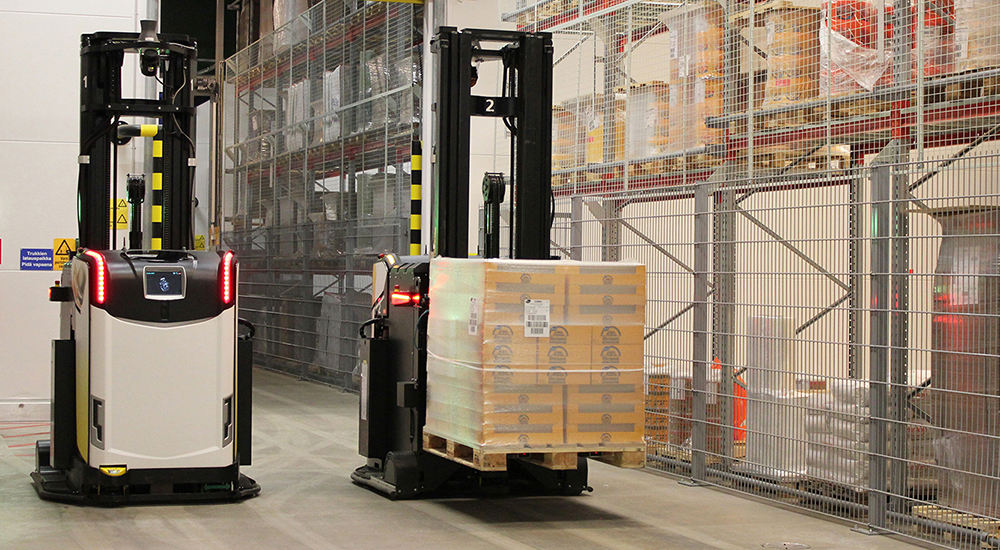 Rocla's AGV solutions are durable, flexible, and modular, with short delivery and ROI.
