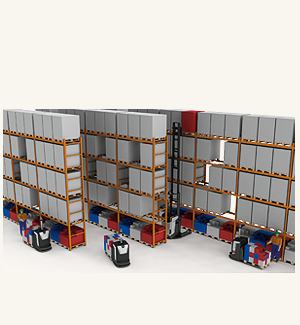 Automatic replenishment by AGV